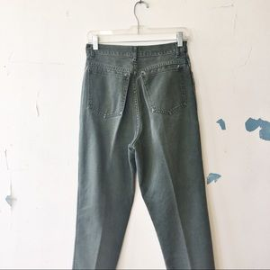 Vintage Jeans - Vintage Rio Olive Green High Waisted Mom Jeans